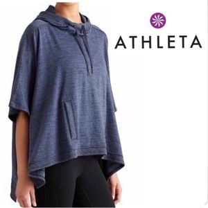 Athleta Blissful Hooded Poncho Blue Size Small